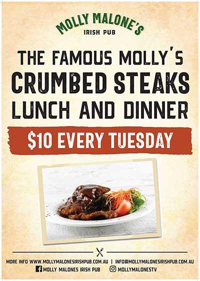 $10 Crumbed Steaks