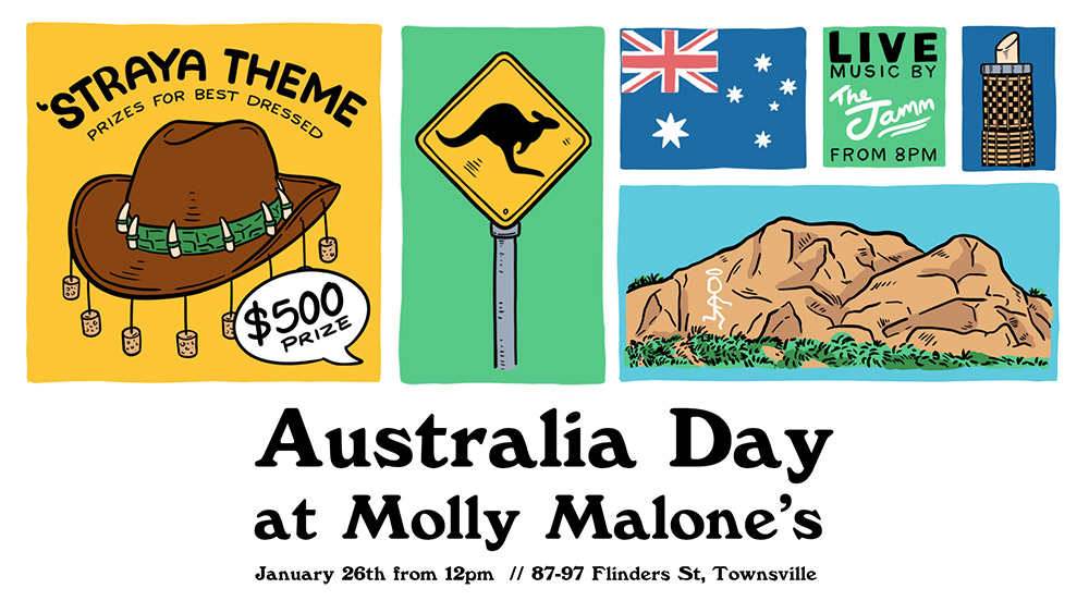 Molly Malones Townsville Australia Day Party